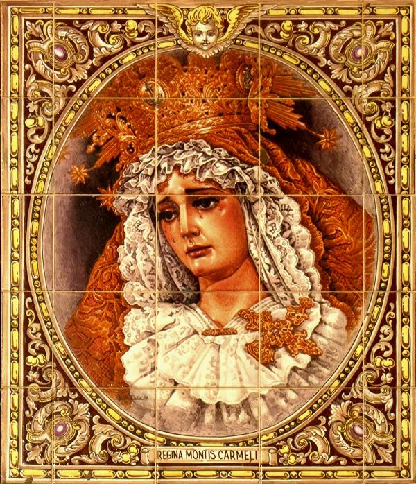 Retablo cerámico calle Virgen del Carmen Dolorosa