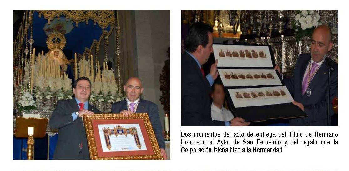 Nombramiento de San Fernando como hermano honorario