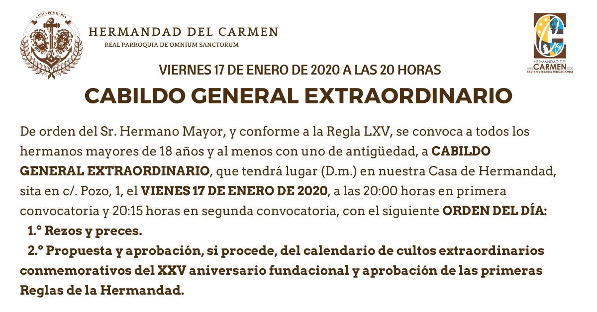 Cabildo General Extraordinario XXV Aniversario