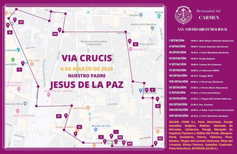 Horarios Via Crucis Señor de la Paz