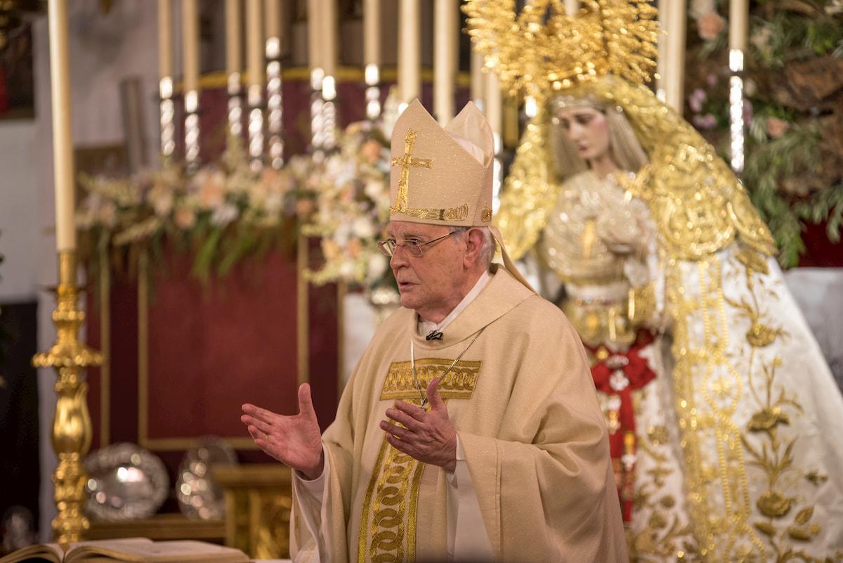 Solemne Misa Estacional 17-10-2020. Cardenal Carlos Amigo.