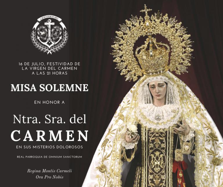 16 de julio día de la Virgen del Carmen